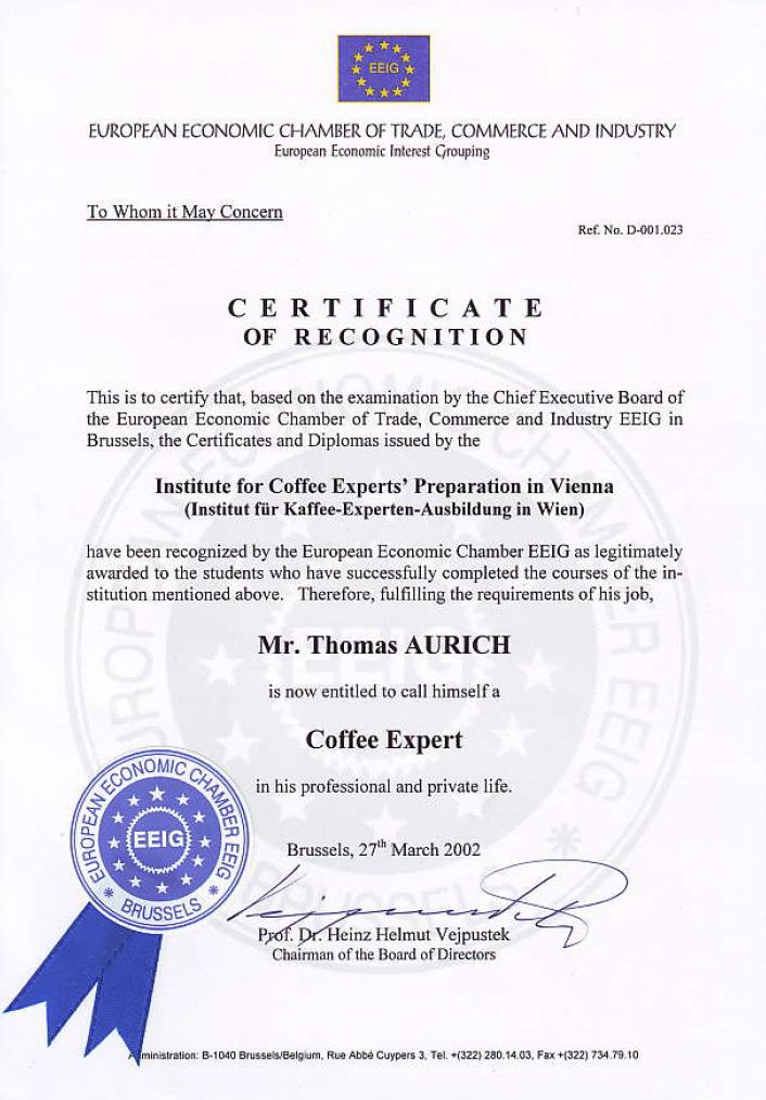 EU-Kaffee-Experte